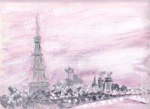 PARIS & THE SEINE, PINK